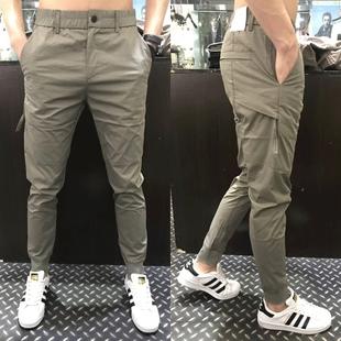 休闲裤男春夏季新款男士修身束脚裤韩版时尚潮流青年弹力小脚裤
