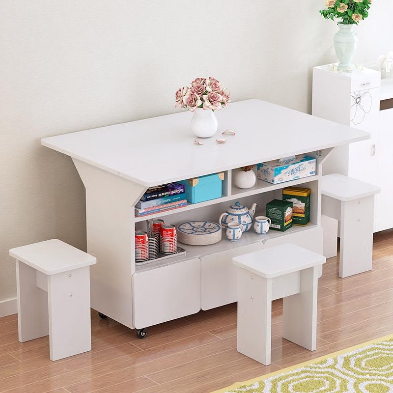 折叠餐桌椅组合家用可移动小户型简易折叠桌子吃饭桌棋牌桌4人6人