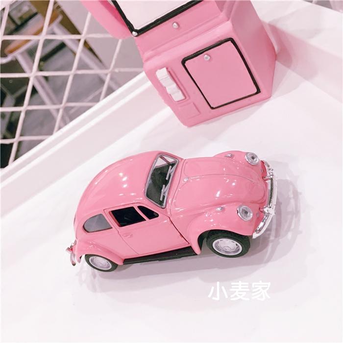 chic少女心房间粉色老爷车小汽车摆件家居装饰品儿童创意玩具礼物