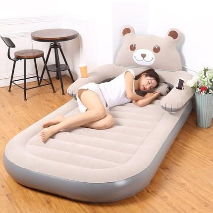 充气床垫加厚家用折叠双人卡通充气龙猫床简易气垫床 单人冲气垫