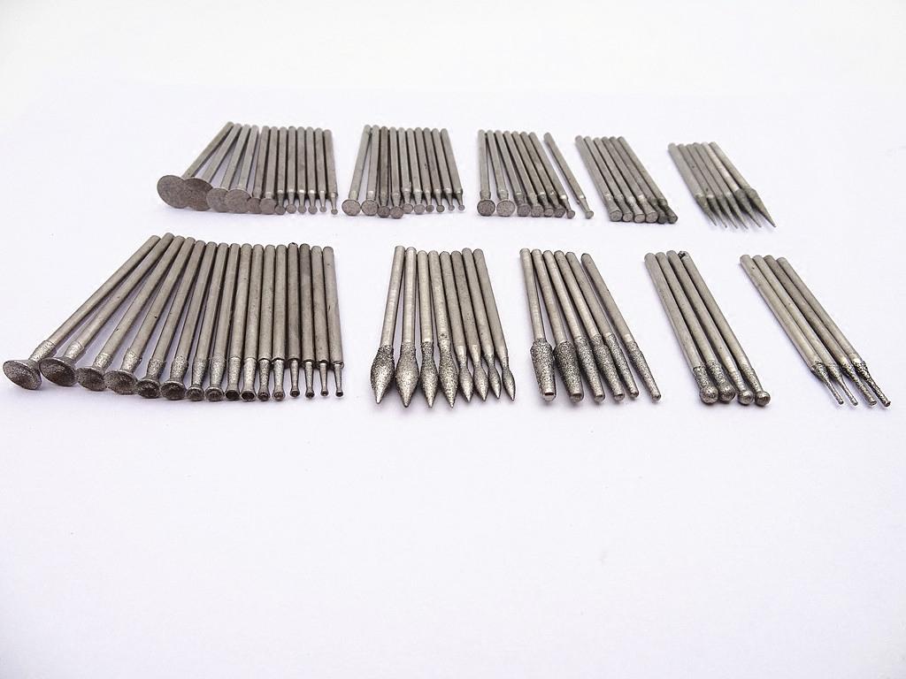 雕玉套装小件DIY金刚石磨针套装玛瑙2.35杆琥珀玉雕磨头工具套装