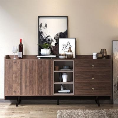 北欧餐边柜实木简约现代储物柜茶水柜备餐柜酒柜厨房柜子餐厅柜