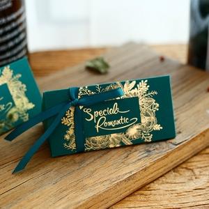 森系婚礼喜糖盒结婚创意喜糖盒子批发结婚糖果盒袋婚庆用品100只