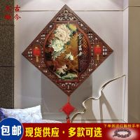 Jade carving painting living room porch decorative painting Chinese murals corridor painting painting restaurant study hanging diamond relief painting