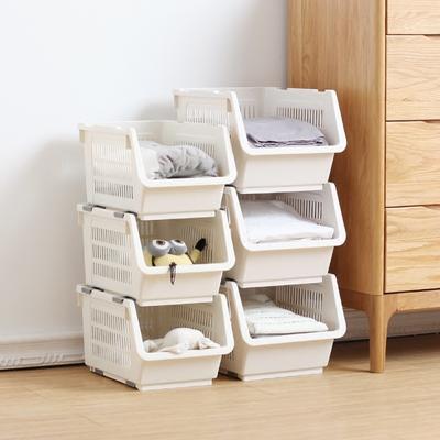 日式创意家用可叠加置物架厨房蔬菜水果收纳篮衣柜整理塑料储物筐网友购买经历