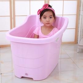 儿童洗澡桶宝宝浴盆特大号加厚泡澡桶澡盆塑料沐浴桶保温洗澡盆桶图片