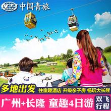 童趣亲子主题 广州双飞4日自由行长隆野生动物欢乐世界门票旅游