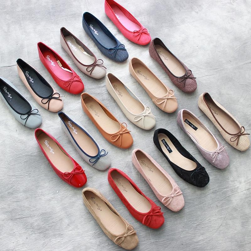 女蝴蝶结女单鞋