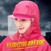 雨披電動車頭盔式