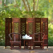 微型家具模型 红木迷你实木椅子摆件 圈椅官帽椅屏风娃娃屋