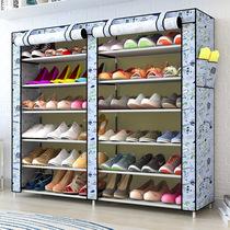 简易牛津布鞋柜大容量加固多层双排加固组装组合鞋橱防尘收纳鞋架