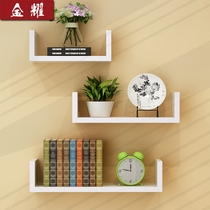 Wall shelf living room walls wall-mounted wall partitions shelf bedroom multi-storey bookshelf non-punching simple modern decoration