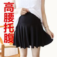 Maternity skirt summer section skirt pants short skirt loose shorts pleated skirt anti-lighting stomach lift summer thin section Korean version