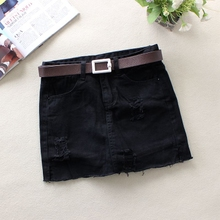 New black jeans shorts for women in spring and summer