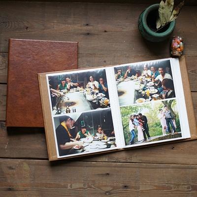 耐用皮革插袋相册 插页式 复古宝宝家庭创意影集相簿 插120张6寸