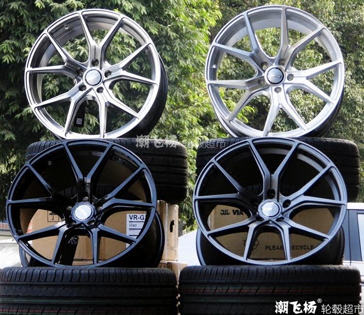 17寸18寸19寸cv5改裝輪轂輪胎奧迪銳志名圖朗動雅
