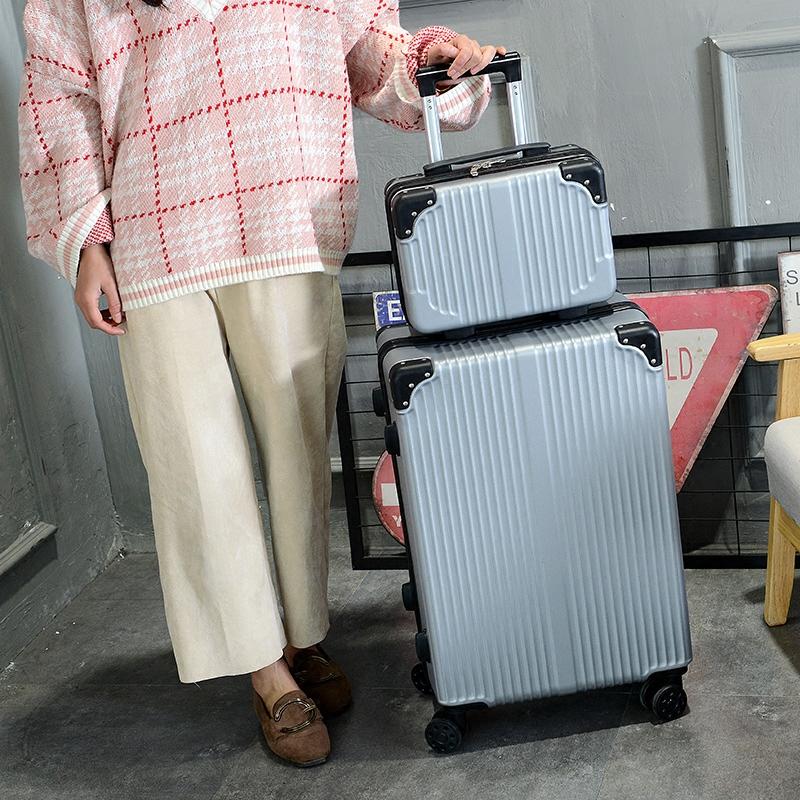 韩版可爱行李箱ins网红女小清新 潮拉杆箱万向轮24寸大学生子母箱