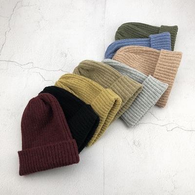 潮韩版针织帽子秋冬男女情侣保暖尖尖套头帽学生百搭护耳朵毛线帽