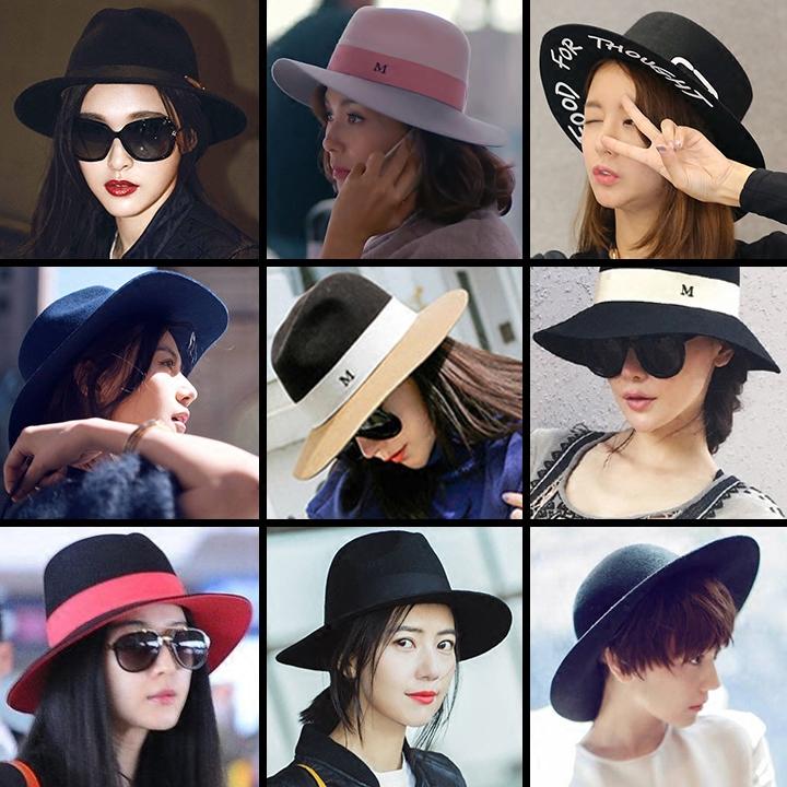 韩版毛毡帽子