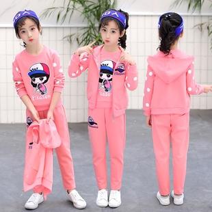 童装女童套装运动套装