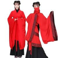 新款古装红色舞衣女古风汉服礼仪之邦璇玑同款双绕曲裾舞蹈演出服