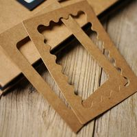 Creative DIY Cardboard Photo Frames Album Cover Decoration Frames No adhesives Need to use double-sided tape