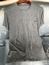 Sweet Tea ~Word-of-mouth soft quality super 20% cashmere single pocket super comfortable short sleeve T-shirt woman