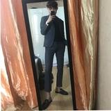 韩国时尚修身英伦西服套装男韩版休闲小西装正装伴郎新郎结婚礼服