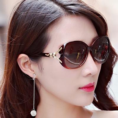 2018新款偏光女士太阳镜女司机驾驶镜大框墨镜复古圆脸太阳眼镜潮