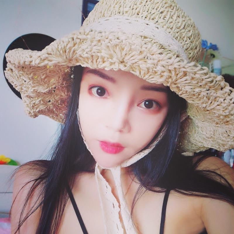 蕾丝沙滩草帽子
