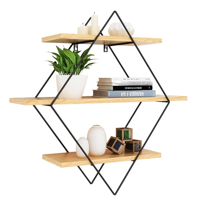 简约现代实木墙上置物架客厅电视墙置物架壁挂一字搁板隔板架