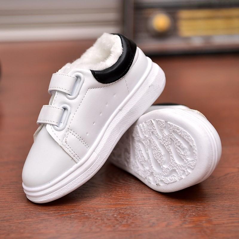 春秋款儿童运动鞋男童鞋女童休闲鞋白色板鞋宝宝鞋皮单鞋小白鞋潮