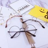 复古平光镜韩版圆形眼镜框女款个性圆脸男潮大框防辐射眼镜配近视