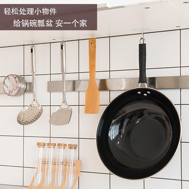 挂钩强力粘胶壁挂衣帽钩门后墙上免打孔承重无痕吸盘墙壁厨房粘钩