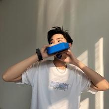 1CHEN / 18夏季新品 男士韩版字母简约印花宽松圆领情侣短袖T恤男