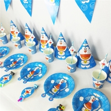 A dream cartoon theme birthday party supplies baby baby birthday party layout environmental protection robot cat