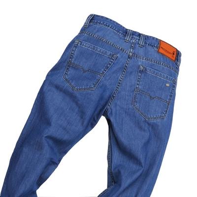 丝光棉牛仔裤