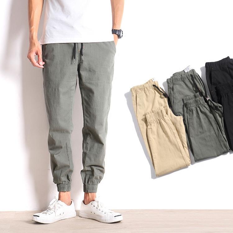 秋装棉麻裤