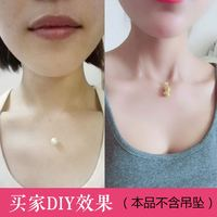 Fish line invisible necklace clavicle chain DIY accessories semi-finished products 925 silver buckle 6049
