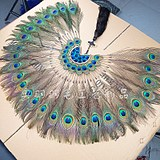 Peacock feathers wrought iron fan-shaped wall decoration wall hanging creative home decoration TV background wall living room wall hanging decoration