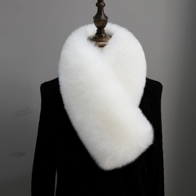 韩版仿皮草狐狸毛毛围巾女冬季保暖加厚学生毛领子毛绒围脖假领子