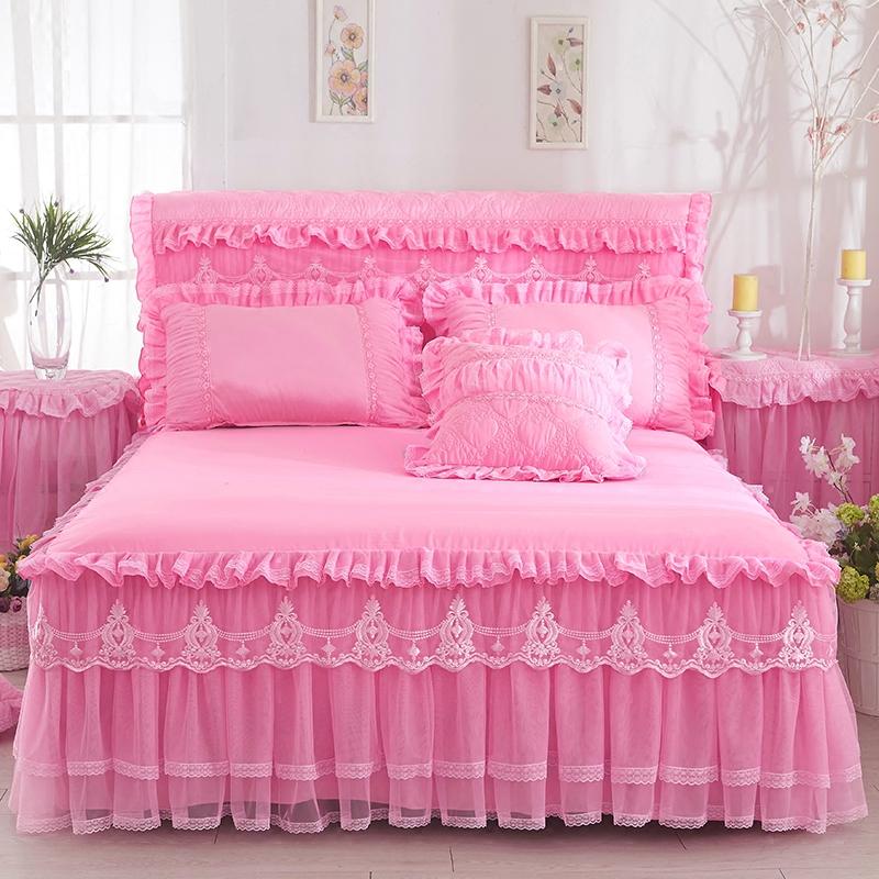 蕾丝床罩单