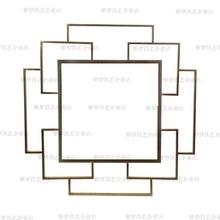 欧式纯手工铁艺金属软装墙饰壁饰创意板房几何立体抽象挂墙装饰品