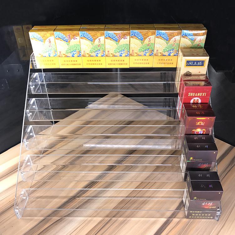 现代店铺工作台亚克力展示架货箱阶梯台架摆卖收纳盒货架搁板托架