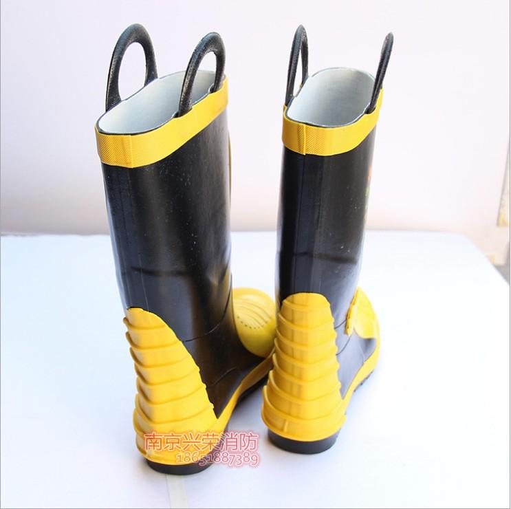 02款灭火靴 战斗消防员底部靴 消防防护靴 灭火胶靴 专用带钢板