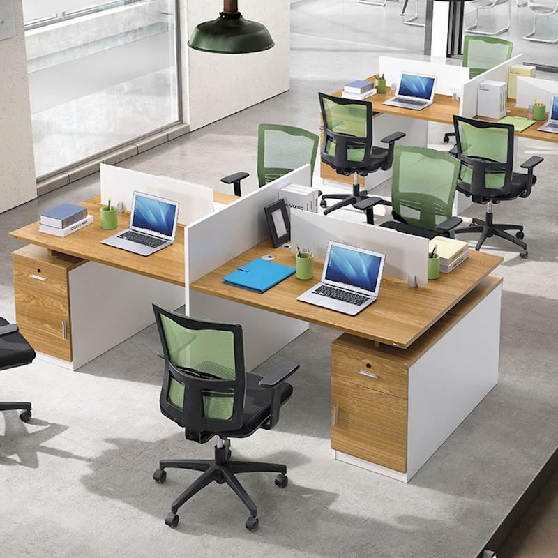 人位办公桌椅组合 2 人位屏风工作位卡座位办公家具员工 4 职员办公桌