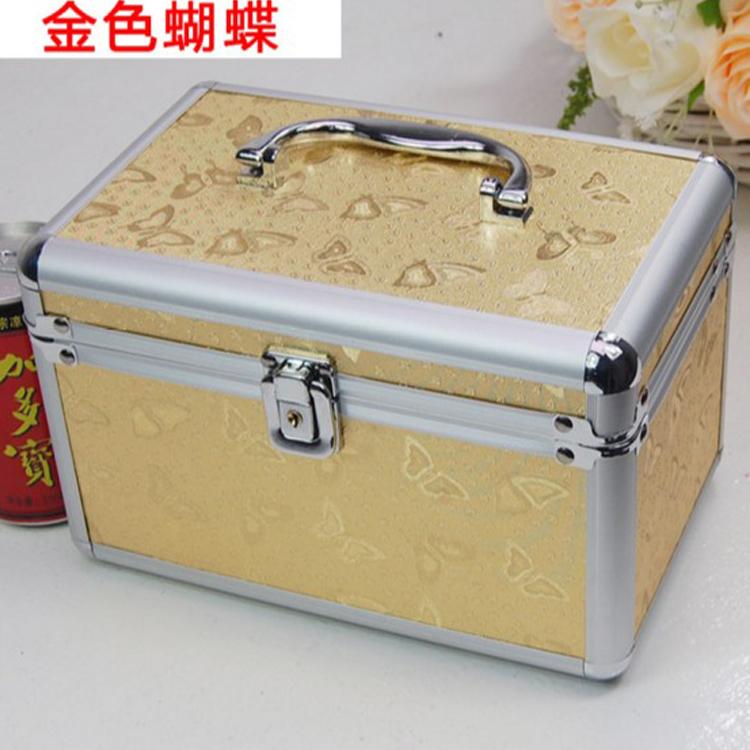 大号收纳箱带锁美观美甲箱储物箱手提式器材箱包邮收纳修脚工具箱