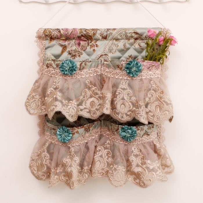 收纳袋挂袋墙挂式布艺悬挂式收纳袋手机挂兜包包袜子衣柜收纳挂袋