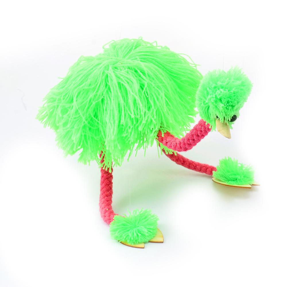 提线木偶鸵鸟玩具拉线中国复古提现木偶玩具牵线鸵鸟泉州非遗