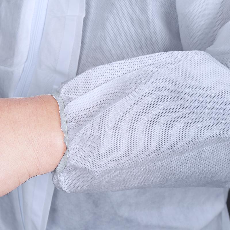 防护服连体衣带帽防尘服防水喷漆服工作服无纺布无尘服防护衣包邮